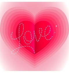 pink surround the heart with the word love vector image vector image