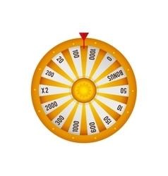 Roulette casino las vegas game lucky icon vector