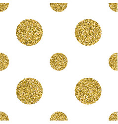 seamless pattern with gold glitter textured circle vector image vector image