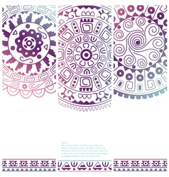 Set of banners with ethnic decorative ornament vector image