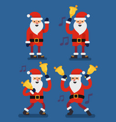 set of christmas santa claus vector image