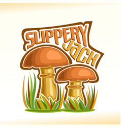 Slippery jack mushrooms vector