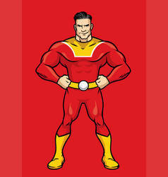 superhero pose with hands on hips vector image
