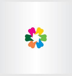 teeth logo colorful icon vector image vector image