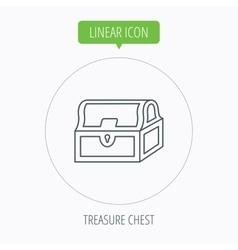 Treasure chest icon Piratic treasury sign vector image vector image