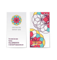 two sided corporate business card template vector image vector image