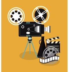 Video camera clapboard movie film cinema icon vector