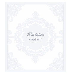 Vintage classic invitation card vector