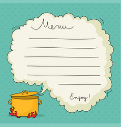 hand drawn menu template vector image