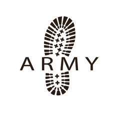 army boot vector image