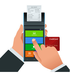 Payment machine and credit card pos vector