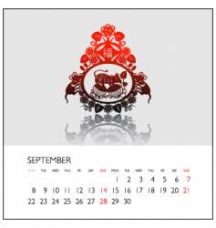 2008 calendar september vector