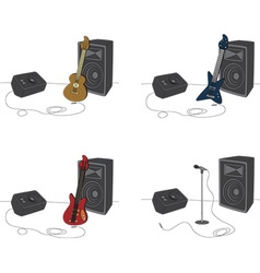 Guitars and amps vector