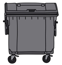Waste container vector