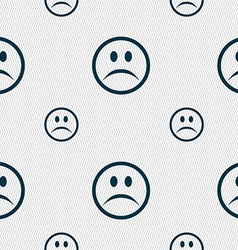 Sad face sadness depression icon sign seamless vector