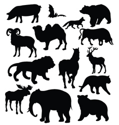 Silhouette of animals vector