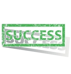 Green outlined success stamp vector