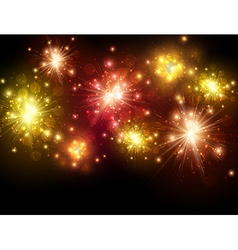Festive colourful firework background vector