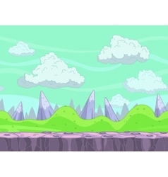 Seamless cartoon nature landscape vector