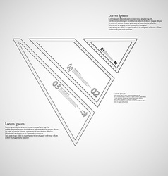 Infographic template with triangle shape divided vector