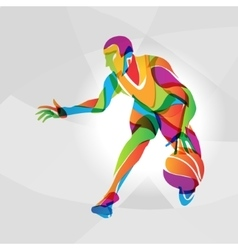 Color of basketball player vector