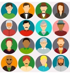 People avatar icons people flat icons vector