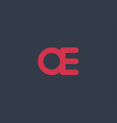 Abstract initial letter ae or oe logo concept vector