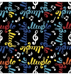 Abstract music seamless pattern vector image
