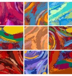 abstract painting background design set vector image vector image
