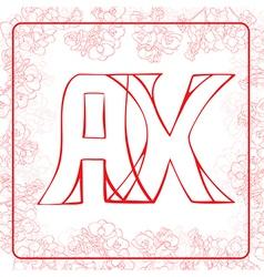 Ax monogram vector