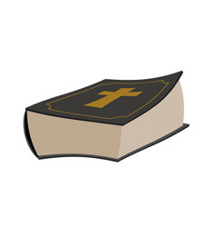 Bible isolated holy book on white background vector