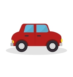 Car toy isolated icon vector