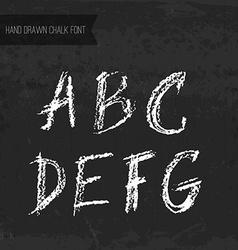 Chalk font vector
