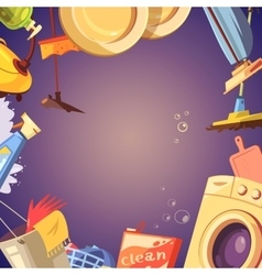 Cleaning service background vector