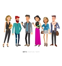 Creative team people teamwork vector