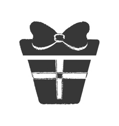 dark box gift presnt party bow vector image
