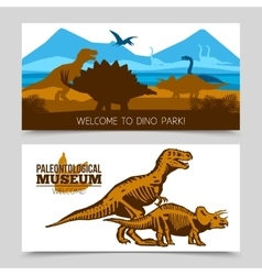 Dinosaurs Horizontal Banners vector image vector image