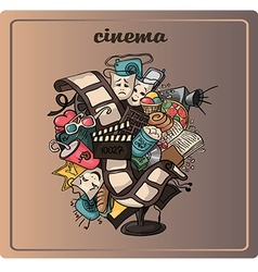 Doodle of a movie vector