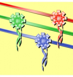 festive ribbons vector image vector image