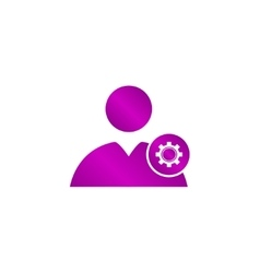 Gears icon User Flat design style vector image