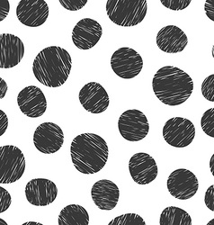 Hand drawn pattern from circles vector image vector image