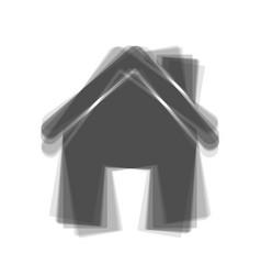 Home silhouette gray icon vector