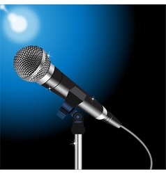 Microphone cord 2 vector image