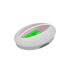 Modern fotball stadium isometric icon vector