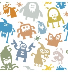 monster patterns vector image vector image