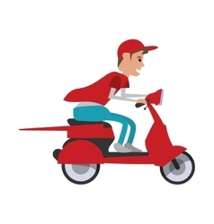 motorcycle man transportation delivery design vector image vector image