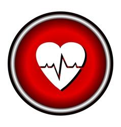 Pulse hearth icon vector image vector image