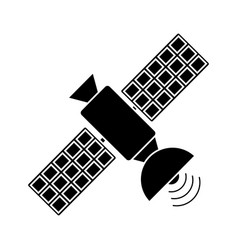 satellite antenna communication wireless pictogram vector image