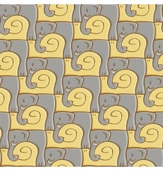 Snail and elephant pattern vector