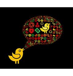 Speech bubble black vector image vector image